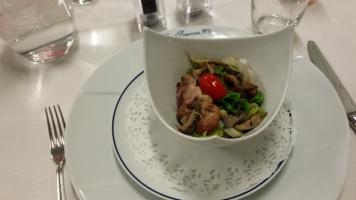 Salade de cailles aux pleurotes aromatisées au vinaigre de framboise2-min